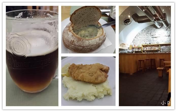 捷克人民美食品种也不太丰富,面包土豆啤酒面粉团,还有吃不完的goulash和schnitzel。.jpg