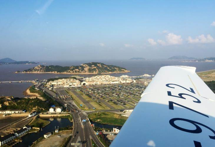 【舟山·飞行体验】乘飞机,高空俯览海岛_精彩城市,尽
