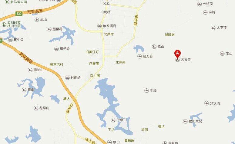 黄江镇地图 全景