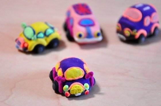 粘土作品汽车图片步骤