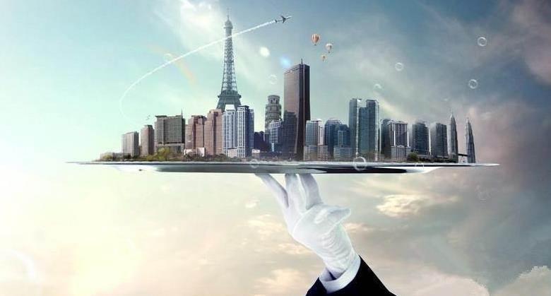 现代城市简笔画框架