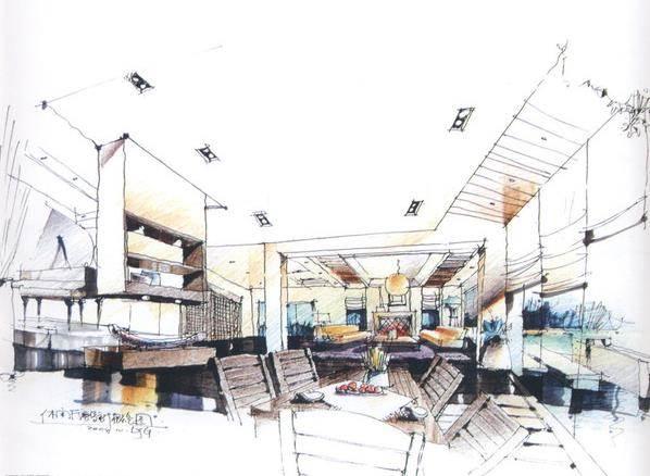 课程内容:室内设计 主题:点与线 空间是由点线面构