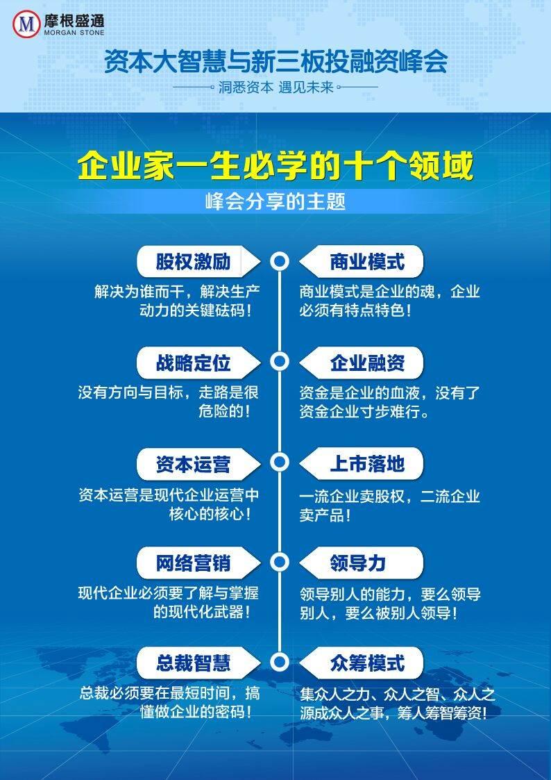 厦门 资本大智慧与新三板投融资峰会