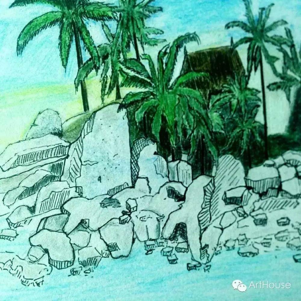 彩铅风景作品  动物千姿态  在这里,来自各行各业爱画画的朋友聚集