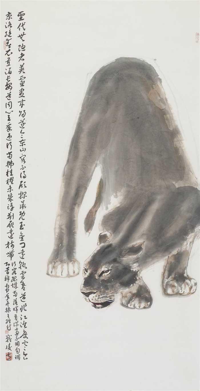 非洲草原进行写生采风实践,以大写意的水墨人物和动物系列陆续在德国