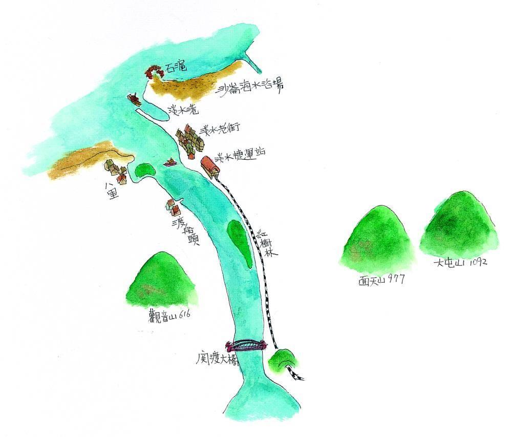 《里台湾》手绘地图
