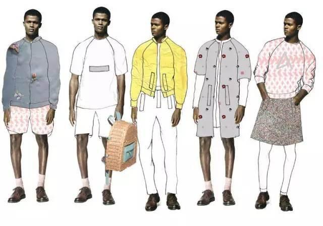 服裝設計師畫圖時,表現的方法并不一定,有的畫得很精致,或像真人一樣
