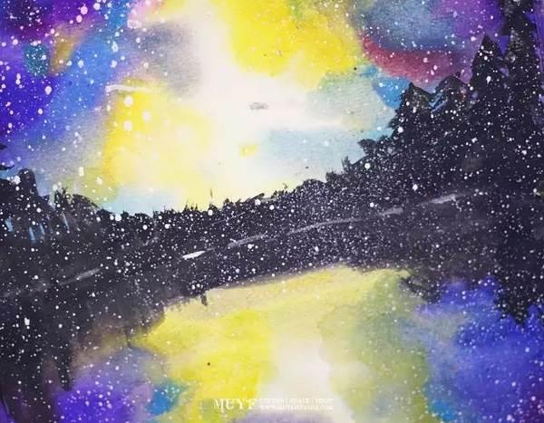 第一幅水彩抽象画