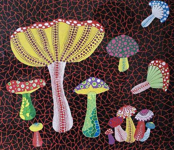 毒蘑菇Toadstools_45.5x52.8 cm_丝网版画_1990.JPG