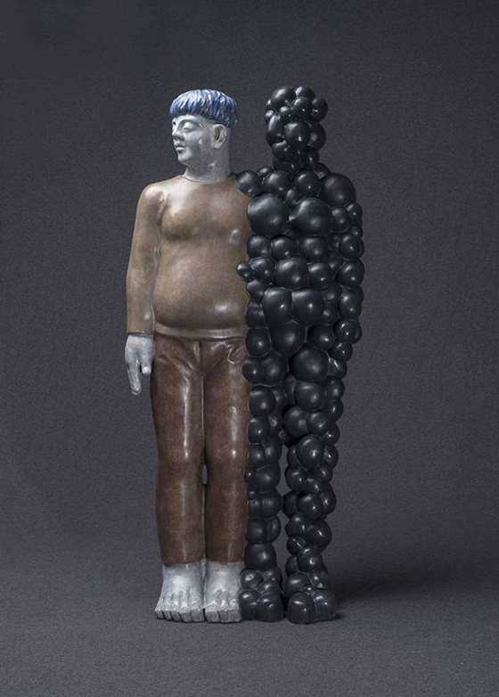 余普彪  临界点之二  50×45×90cm  雕塑  铜  2018.jpg
