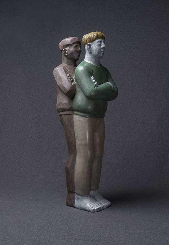 余普彪  临界点之三  60×25×90cm  雕塑  铜  2018.jpg