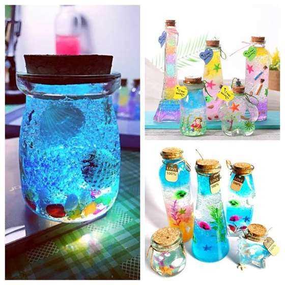亲子diy|创意梦幻星空海洋瓶