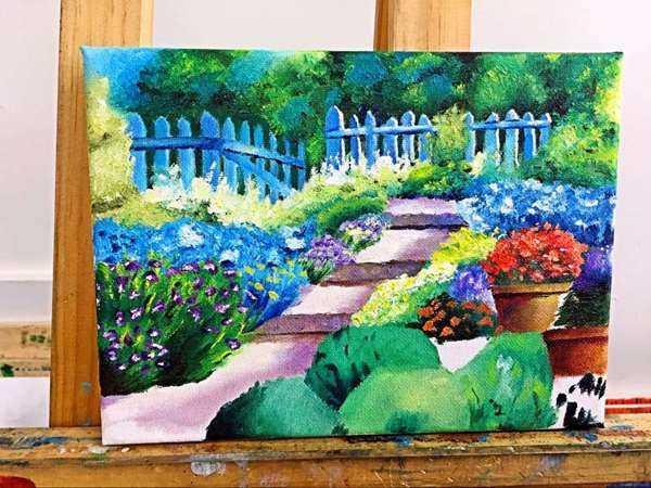 油画风景花卉diy