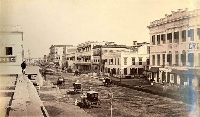 138 旧法院街  19世纪60年代 印度加尔各答  萨缪尔•伯尔尼(Samuel Bourne)摄.jpg