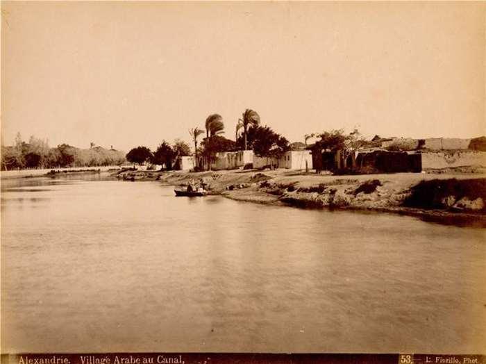 164 亚历山大港附近的阿拉伯村庄  19世纪70年代  埃及 路易吉•费欧瑞里欧(Luigi Fiorillo)摄.jpg