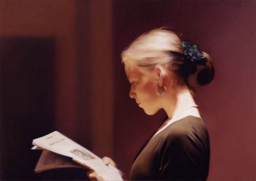 吉哈德·里希特:《阅读者》,布上油画,1994的副本.jpg