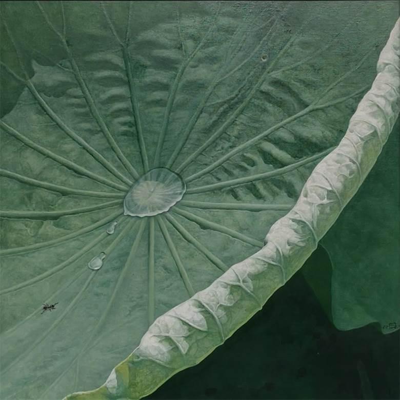 刘丹蓝《荷花系列No.28》80×80cm.jpg