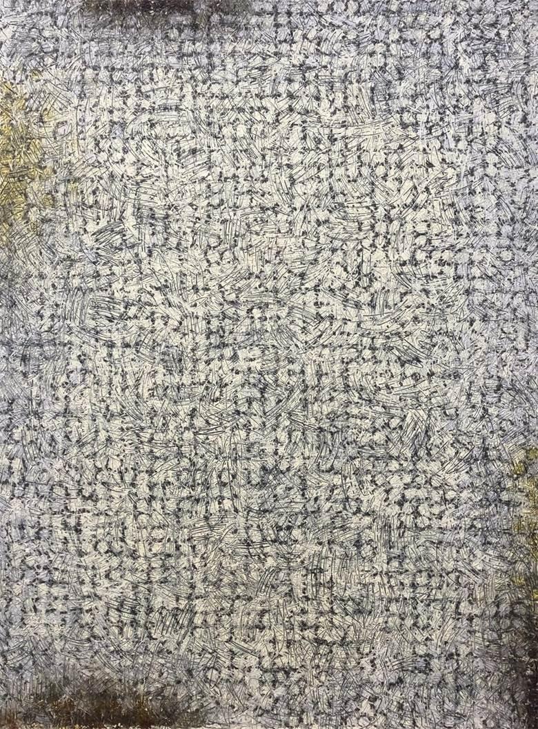 《作品17-14》布上宣纸、墨、油画(或:综合材料),160x120 cm,2017年.jpg