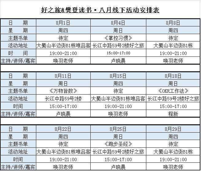 好之旅&樊登读书8月线下活动安排.png