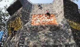 春天去攀岩