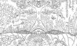 百人共涂巨型《秘密花园2:魔法森林》,等你一起破纪录