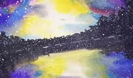 ■ 水彩星空课堂|笔尖下的星河山川