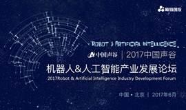 2017中国声谷·机器人&人工智能产业发展论坛
