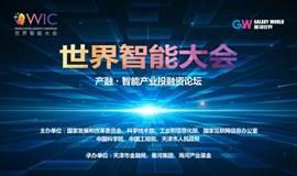 世界智能大会   产融•智能产业投融资论坛