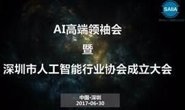 AI高端领袖会 暨 深圳市人工智能行业协会成立大会