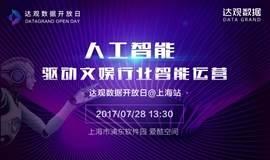 人工智能驱动文娱行业智能运营——达观数据开放日上海站