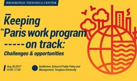 维护《巴黎协定》工作方案进程:机遇与挑战 Keeping the Paris work program on track: Challenges and opportunities