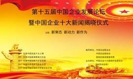 第十五届中国企业发展论坛暨中国企业十大新闻揭晓仪式
