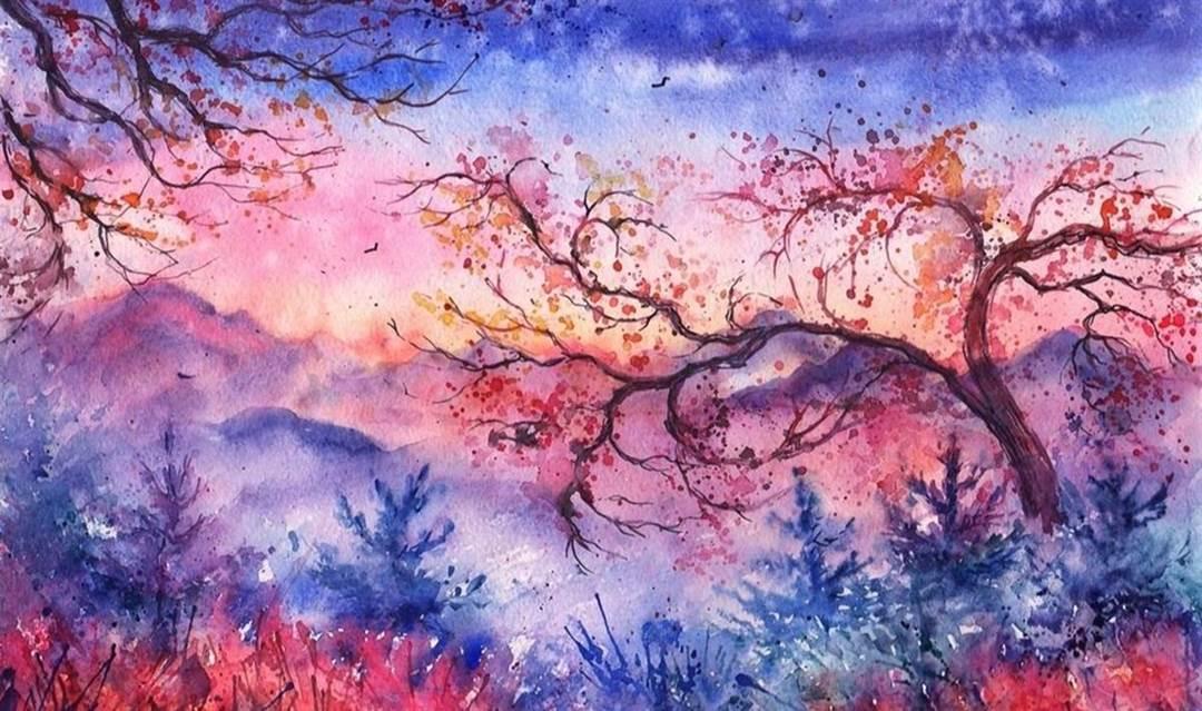 画一幅/水彩/彩铅/素描画,绘画小白的画家梦