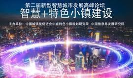 """第二届新型智慧城市发展高峰论坛"""" 智慧+特色小镇""""论坛"""