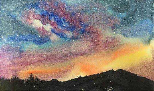 【在山上茶学堂】以水为媒,画出彩色人生,60分钟画一副水彩画