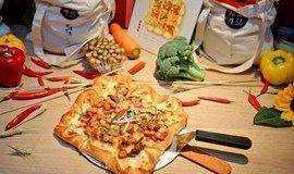 亲子迎新年:DIY必胜客10寸大披萨,豪华九宫格披萨~好玩又好吃!