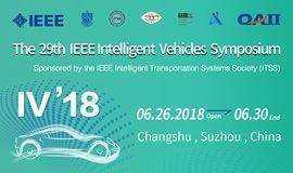 The 2018 IEEE Intelligent Vehicles Symposium (IV'18)