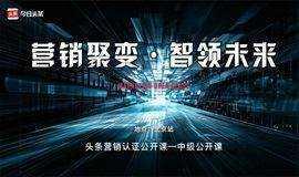 「北京站」头条营销认证 营销聚变 ▪ 智领未来—中级认证公开课