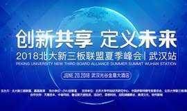 【创新共享 定义未来】2018 北大新三板联盟夏季峰会——武汉站