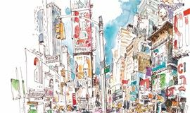 """【6.3上海讲座】跟德国高人气插画教授""""菲利大叔""""学手绘:创意速写"""