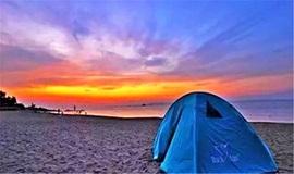 【休闲·户外】惠州双月湾狮子岛、海边烧烤、篝火晚会、出海捕鱼露营 2日游