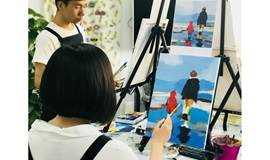 送父亲礼物的礼物|亲手画的油画|零基础油画体验