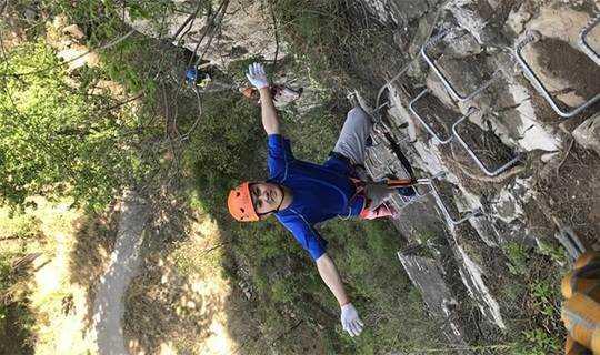 周末挑战高级道:岩壁上的舞者—乐佛山飞拉达(赠滑索+漂流)