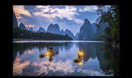 游阳朔山水、西街艳遇、20元人民币背景漓江498元