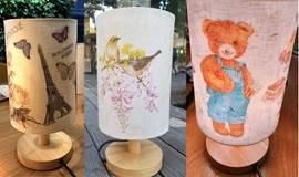 唤醒灯光里的艺术世界—上海蝶古巴特彩绘台灯活动