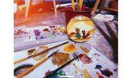 [周末美好时光]热爱生活|年轮木片油画