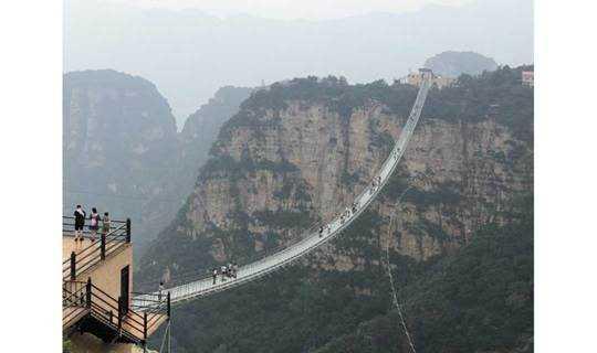 中秋9.22-23 全球最长的悬跨式玻璃索桥之 红崖谷,白鹿温泉,华严寺, 纯玩户外休闲