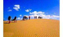 已成型 国庆10.3-6 中国第七大沙漠,库布齐沙漠徒步穿越23公里,帐篷露营 或者住农家院,代租露营装备