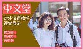 【免费学习专场】对外汉语教学课堂展示,教老外学中文