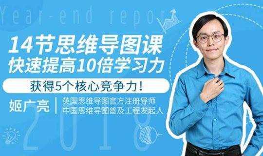 脑力思维训练快速提高5大竞争力 姬广亮思维导图在线课程